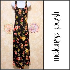 Racer Back Floral Maxi Dress